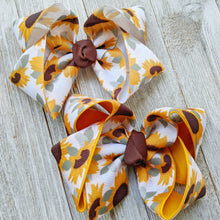 "4"" Sunflower Hair Bow"