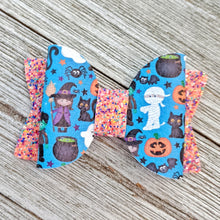Trick-or-Treaters Chunky Glitter Bow 2.5 Inches