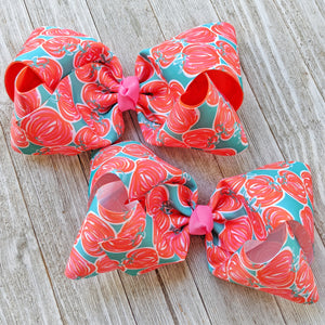"7-8"" Hello Pumpkin Ribbon Hair Bow"