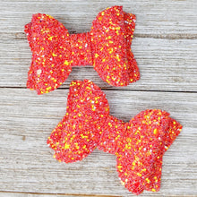 Burning Ember Glitter Bow - 2 Sizes