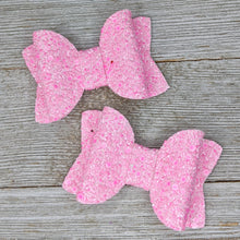 Bubblegum Pink Glitter Bow - 2 Sizes