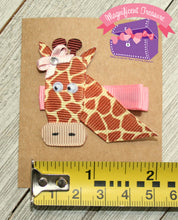 Giraffe Hair Clip - Giraffe Hair Bow - Ribbon Sculpture - Giraffe Pin - Magnificent Treasures