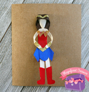 Wonder Woman Clip - Wonder Woman Pin - Girl Super Hero Hair Bow
