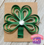 Loopy Shamrock Hair Clip or Pin