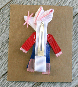 Maisy Mouse Bow - Maisy Mouse Hair Clip - Maisy Ribbon Sculpture - Magnificent Treasures