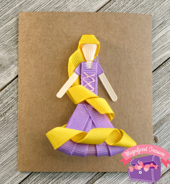 Rapunzel from Tangeled Hair Bow