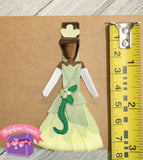 Princess Tiana Hair Clip Ribbon Sculpture