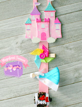 Glitter Rainbow Hair Bow Holder and Storage