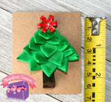 "Christmas Tree Girl's Hair Bow 2.5"" Tall"