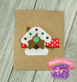 Gingerbread House Ribbon Sculpture Hair Clip or Pin