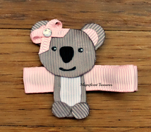 Koala Ribbon Sculpture Hair Clip