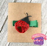 Ladybug Girls Summer Hair Bow Front View