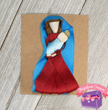 Mary and Baby Jesus Girls Christmas Hair Bow, Pin, or Christmas Tree Ornament Front View