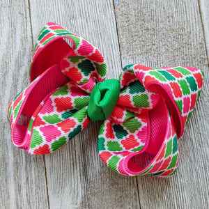 "Moroccan Christmas 4"" Hair Bow"