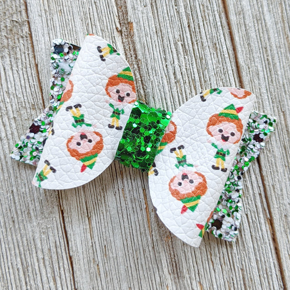 Buddy the Elf Glitter Bow 2.5 Inches