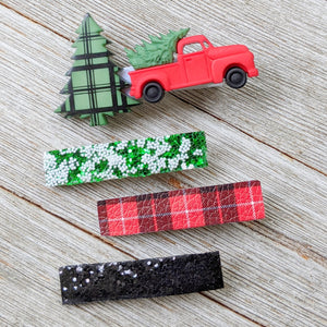 Christmas Truck Glitter Clippie Set