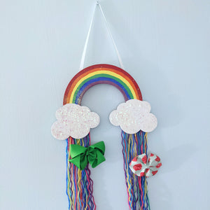 Rainbow Hair Bow Holder and Storage