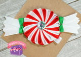 Peppermint Candy Christmas Hair Bow or Pin