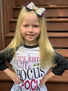 Hocus Pocus Chunky Glitter Bow - 2 Sizes