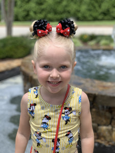 Minnie Mouse Ears on Clips and Optional Soft Headband