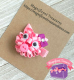 Pig Loopy Puff Hair Bow