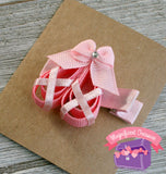 Pink Ballet Shoes Hair Bow