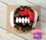 Regular football hair bow front view