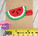 Watermelon Girl Summer Hair Bow or Pin Size