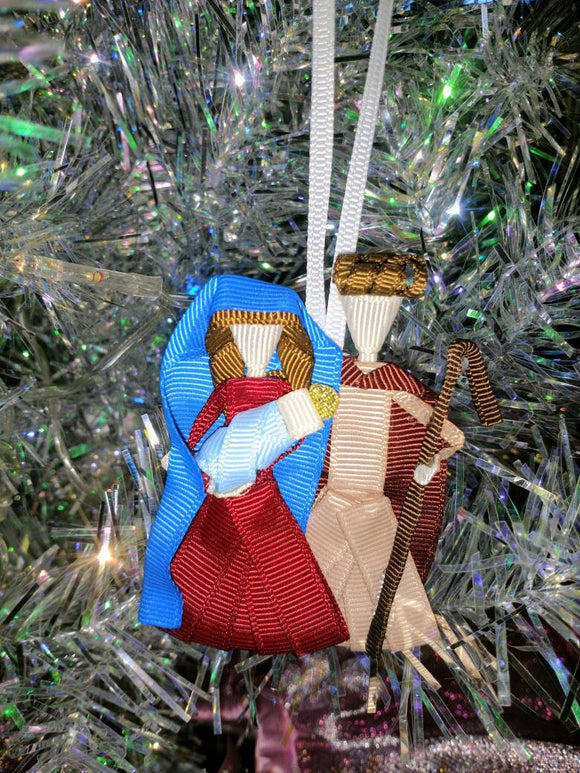 Holy Family Nativity Christmas Tree Ornament