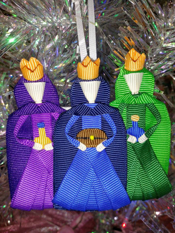 Three Wisemen/Kings/Magi Nativity Christmas Tree Ornament