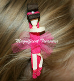 Ballerina Ribbon Sculpture Hair Clip