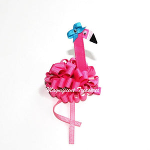 Flamingo Puff Hair Bow