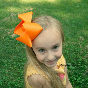 Large 5 Inch Girl Boutique Hair Bow - You Choose Color