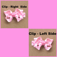 "7-8"" Spring Ombre Rhinestone Ribbon Hair Bow"