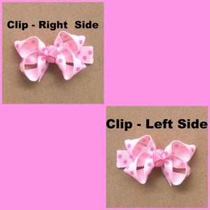 Set of Mini Spring Solid Faux Leather Bows 2.5 Inches