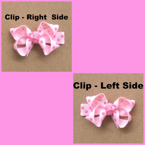 "7-8"" Lavender Bat Ribbon Hair Bow"
