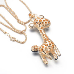 Lovely Cute Giraffe Necklace