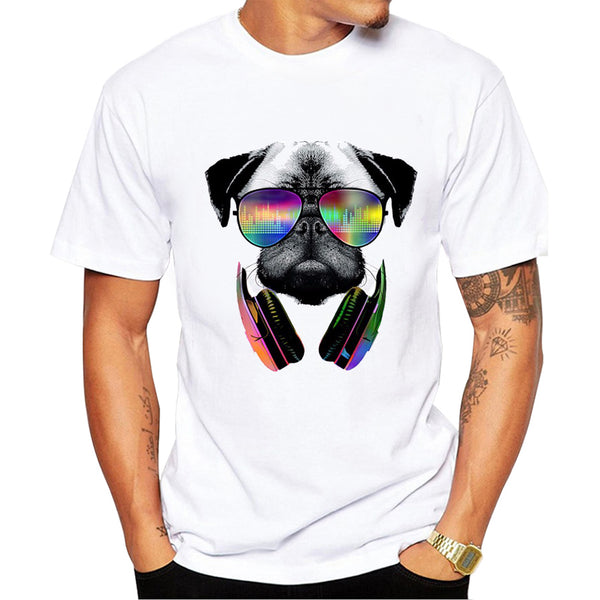 Summer Fashion DJ Dog T Shirt Men's