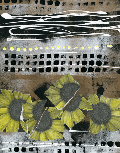Montauk Daisies by Lynda Sylvester | Original artwork for Coco & Maya