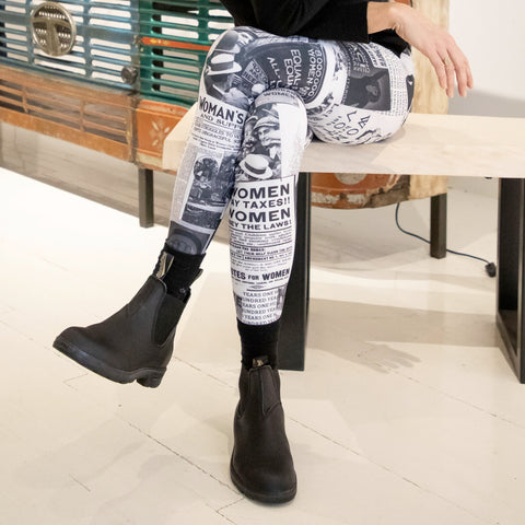 Sylvester & Co. Modern General® | Coco & Maya Clippings 100 Years of Women's Rights Leggings | Hamptons Sag Harbor, NY | New York Women Owned Business