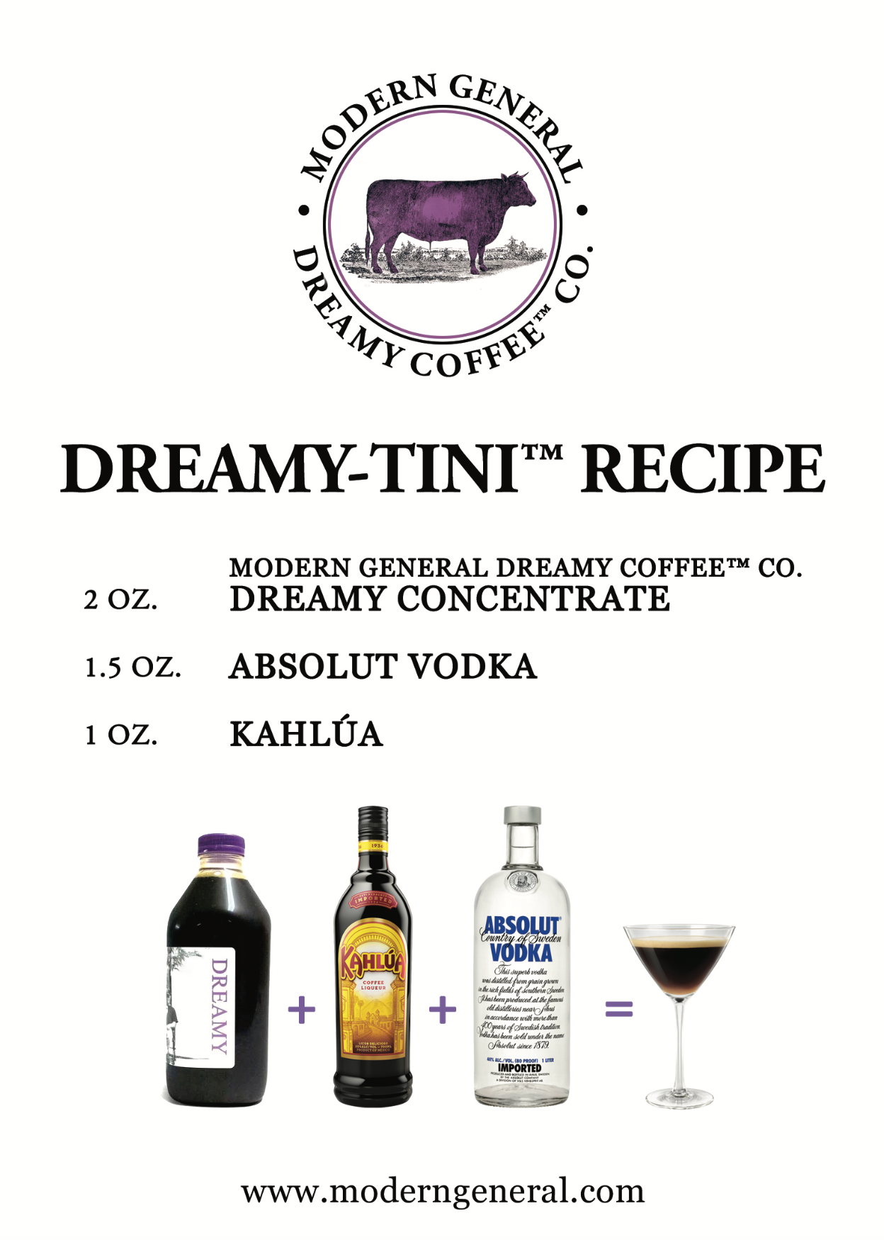 Dreamy-tini™ Recipe | Coffee Concentrate Cocktails | The Hamptons