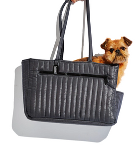Nylon Quilted Dog Travel Tote