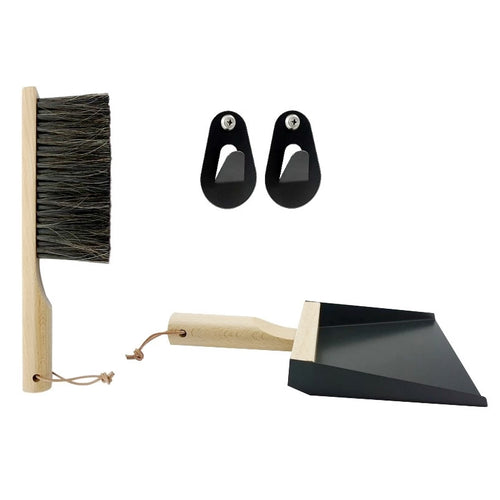 Dustpan & Brush Gift Set w/Hooks