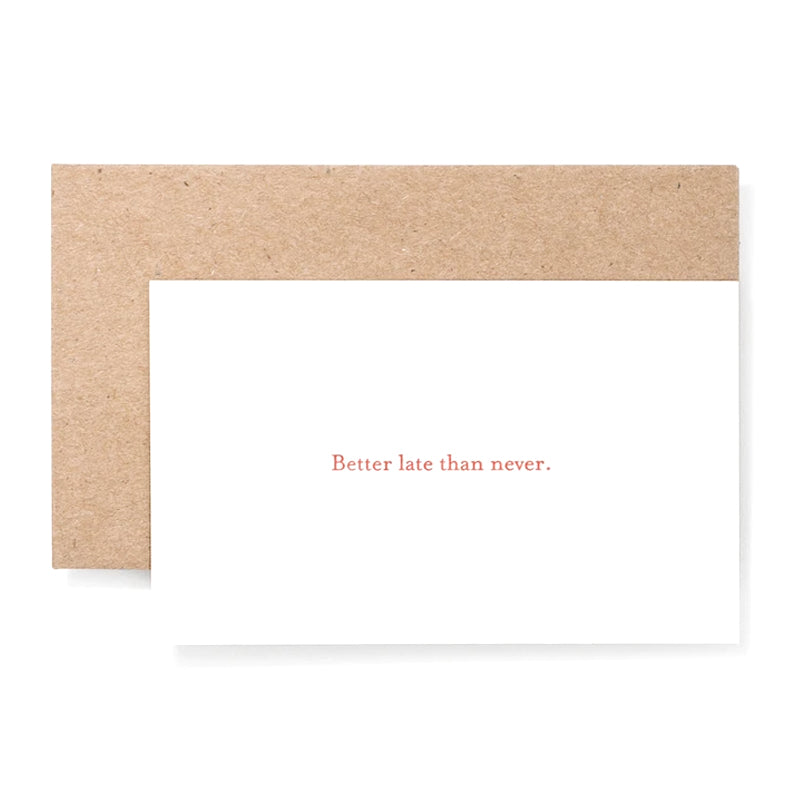 'Better Late Than Never' Notecards