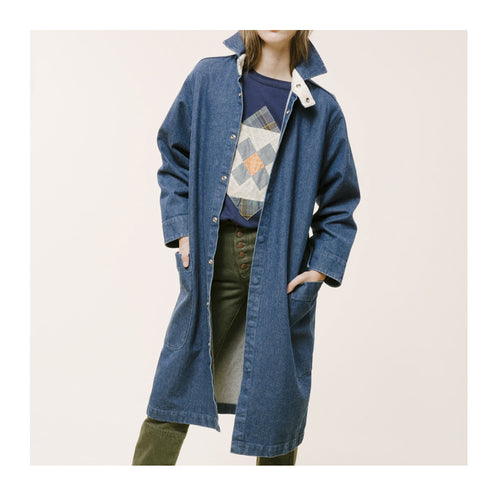CARLEEN Harris Blue Denim Duster Jacket