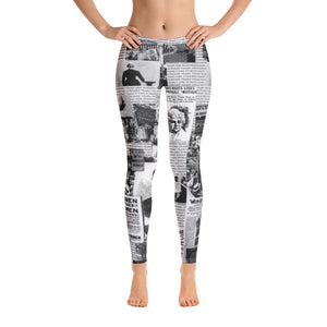 """Clippings... 100 Years"" Leggings (10% to Planned Parenthood)"