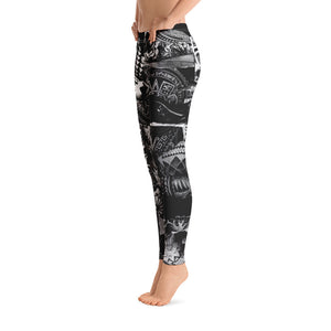 """Tattoo B&W"" Leggings"