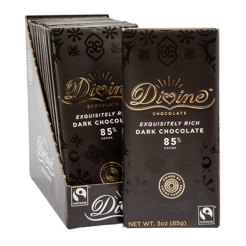 Divine Bar, 85% Dark Chocolate 3oz.