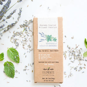 Peppermint with Lavender Ayurveda Inspired Artisanal Chocolate (Vata Balancing)
