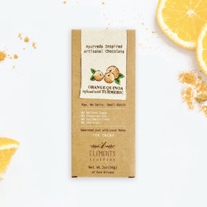 Orange Quinoa with Tumeric Ayurveda Inspired Artisanal Chocolate (Vata, Pitta, Kapha Balancing)